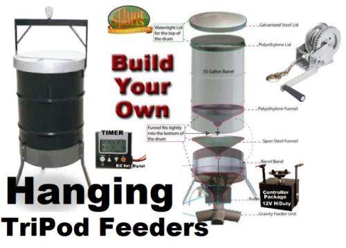 Hanging Deer Feeder Package   Hang'em High Tri-Pod Basics