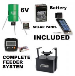 Complete Tri-Pod Spincast Deer Feeder | 6V Solar and Battery